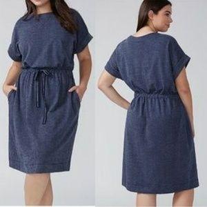 14/16 Lane Bryant Navy French Terry Dress